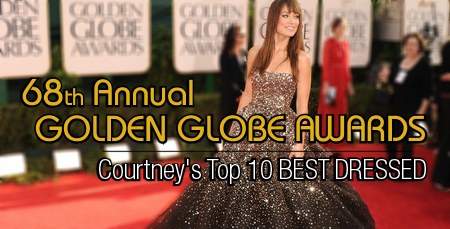 Top 10 Best Dressed Picks: 68th Annual Golden Globes