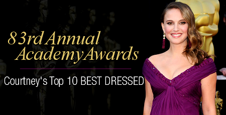 Top 10 Best Dressed Picks: The 83rd Annual Academy Awards